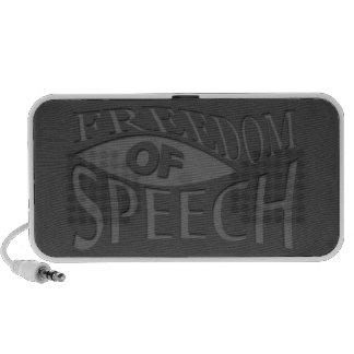 Freedom Of Speech Notebook Speaker
