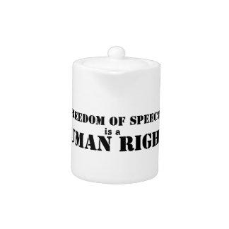 Freedom of Speech Teapot