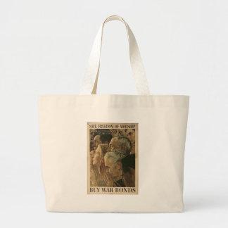 Freedom Of Worship World War II Jumbo Tote Bag