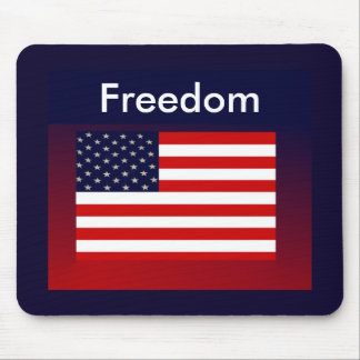 FREEDOM Patriotic Mouse Pad on Red,White,Blue