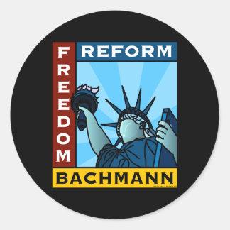 Freedom Reform Liberty Bachmann Round Sticker
