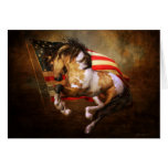 Freedom Run Wild Horse Card