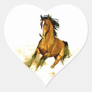 Freedom - Running Horse Heart Sticker