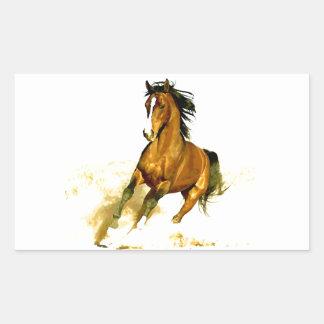 Freedom - Running Horse Rectangular Sticker