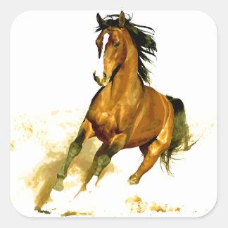 Freedom - Running Horse Square Sticker