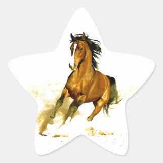 Freedom - Running Horse Star Sticker
