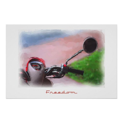 Freedom Scooter Poster