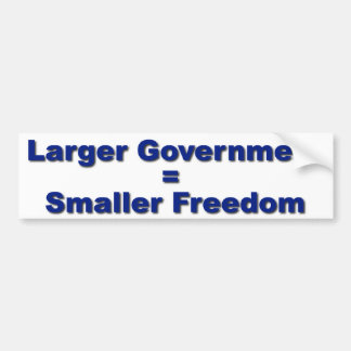 Freedom Shrinks Bumper Sticker