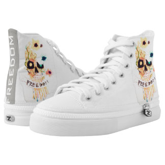 Freedom skull high tops