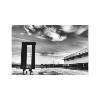Freedom Square in Viana do Castelo Gallery Wrapped Canvas