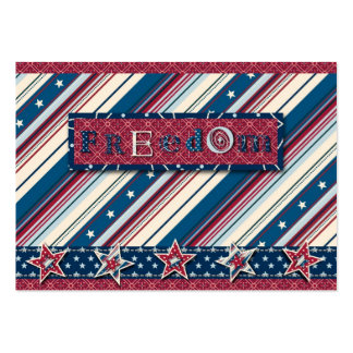Freedom Stripe Gift Tag Pack Of Chubby Business Cards