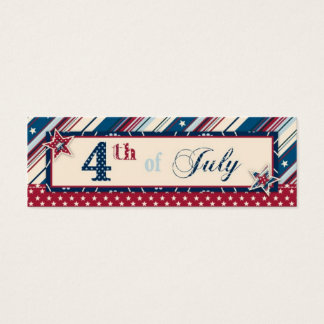 Freedom Stripe Skinny Gift Tag