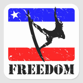 Freedom Surfing FLAIR Square Sticker