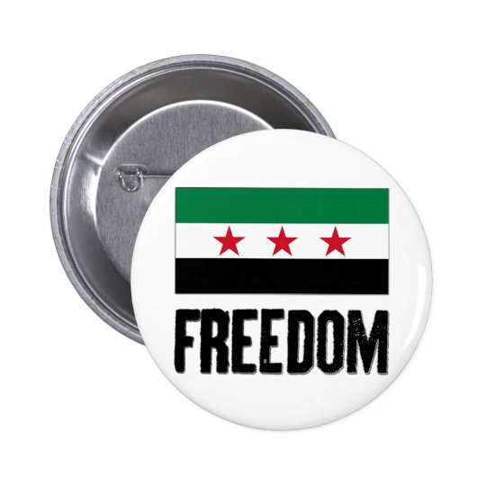 Freedom - Syria 6 Cm Round Badge