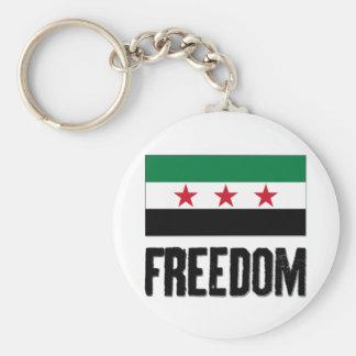 Freedom - Syria Basic Round Button Key Ring