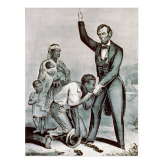 Freedom to the Slaves, Abraham Lincoln Postcard