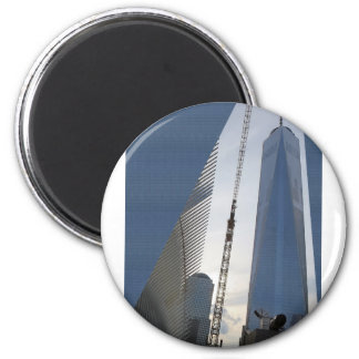 Freedom Tower New York formerly World Trade Centre 6 Cm Round Magnet