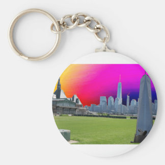 Freedom Tower New York formerly World Trade Centre Basic Round Button Key Ring