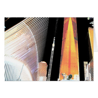Freedom Tower New York formerly World Trade Centre Greeting Card