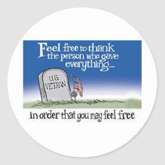 freedom-veterans round stickers
