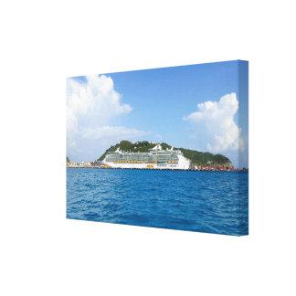 Freedom Visiting Sint Maarten Canvas Print