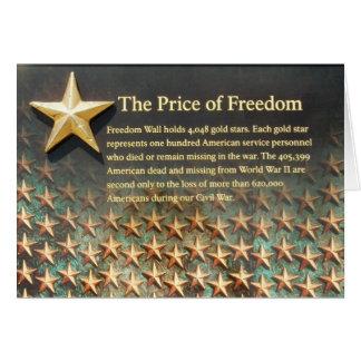 Freedom Wall, World War II Memorial Card