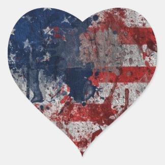 Freedom Weeps Heart Sticker