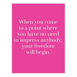 Freedom Will Begin Quote Postcard