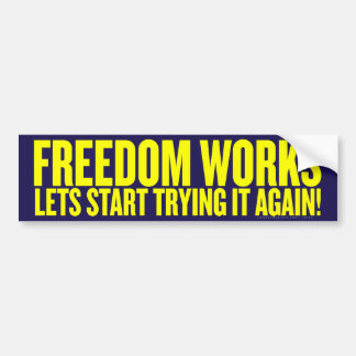Freedom Works Bumper Sticker