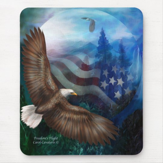 Freedom's Flight - Eagle Art Mousepad