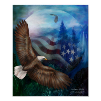 Freedom's Flight - Eagle Art Poster/Print