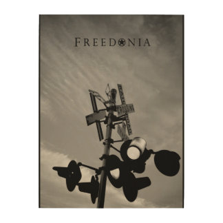 Freedonia Wood Panel - RR Crossing
