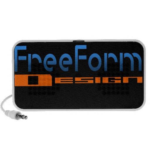 FreeForm Design Logo Travelling Speakers