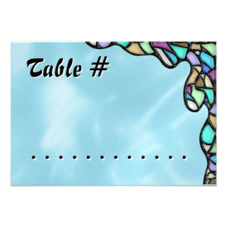 Freeform Leaded Glass (Table Number) Personalized Invite