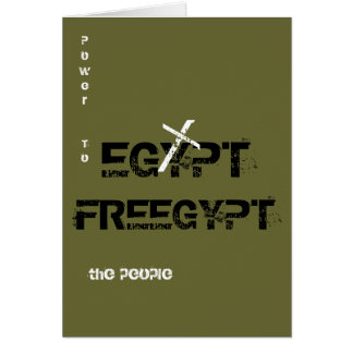 "FREEGYPT ""Power to the people"" Greeting Card"
