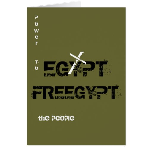 "FREEGYPT ""Power to the people"" Greeting Cards"