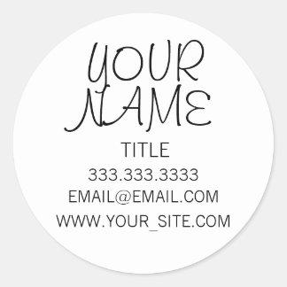 Freehand Simple Plain Round Sticker