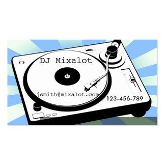 Freelance DJ Disc Jockey vinyl retro music Pack Of Standard Business Cards