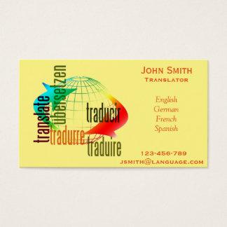 239 translator business cards and translator business for Sample private investigator business cards
