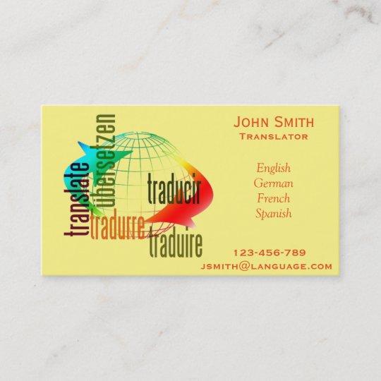 Freelance translator language interpreter business card zazzle freelance translator language interpreter business card colourmoves