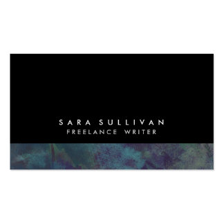 Freelance Writer Bold Abstract Dark Teal Grunge Pack Of Standard Business Cards