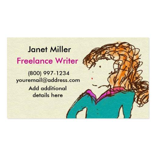 Freelance Writer Business Cards