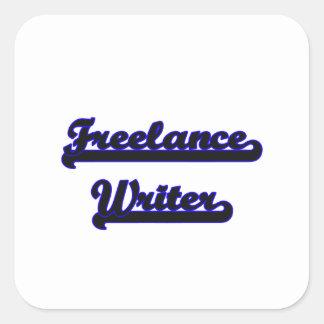 Freelance Writer Classic Job Design Square Sticker