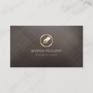 Freelance writer business cards zazzle uk freelance writer gold pen nib icon publishing business card colourmoves