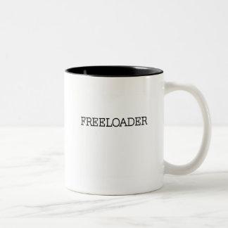 Freeloader Tshirts and Gifts Two-Tone Mug
