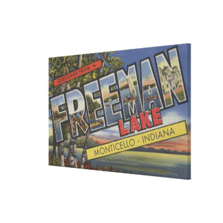 Freeman Lake - Large Letter Scenes Canvas Print