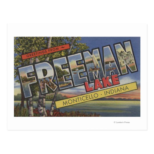 Freeman Lake - Large Letter Scenes Postcard