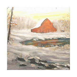"""FREEMAN LAKE SNOW"""" CANVAS PRINT"