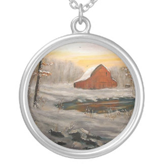 """""""FREEMAN LAKE SNOW"""" SILVER PLATED NECKLACE"""