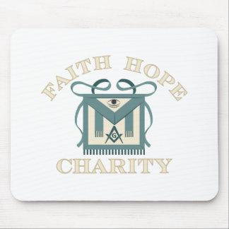 Freemason Apron Faith Hope Charity Mouse Pad